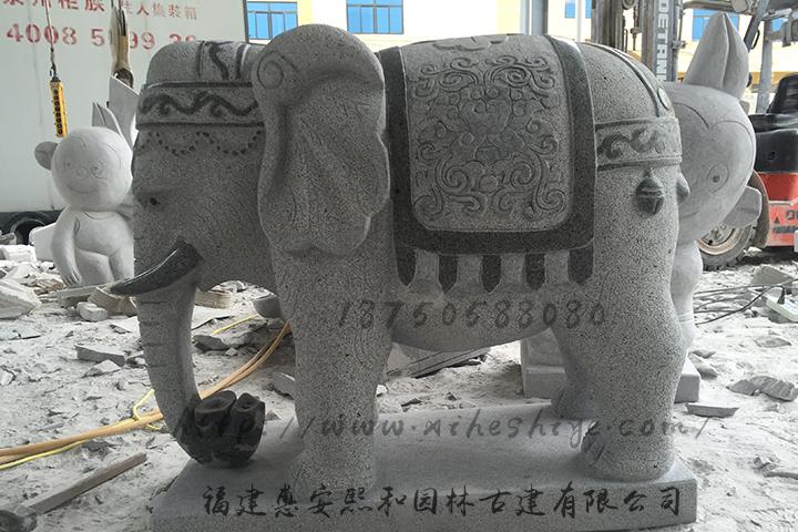 石雕大象是怎么雕刻的